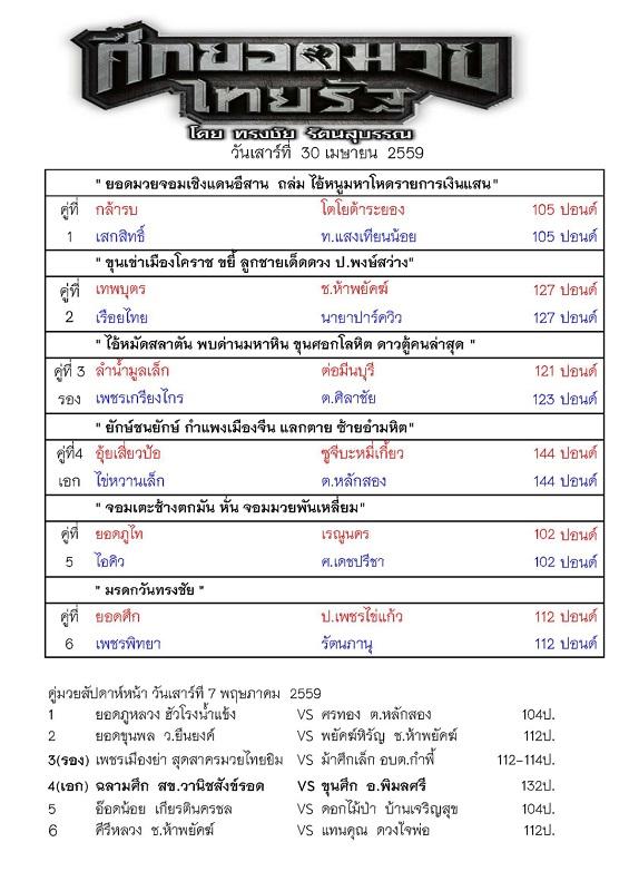 รายการมวยไทยรัฐ 30 เมษายน 59_Page_1
